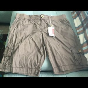 Pants - Brown Cargo Shorts - New with tags Size 17
